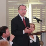 President of the University of Alabama Rober Witt speaks to the Rotary Club of Tuscaloosa