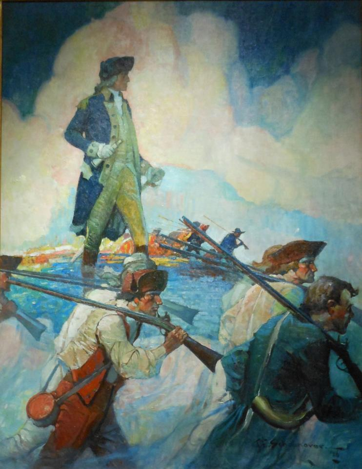 """""""George Washington and His Troops"""" by Frank Schoonover (1877-1972)"""